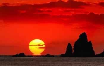 後浜展望所から見る野間岬一帯-南さつま海道八景-