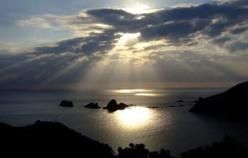 丸木崎展望所から見る泊浦一帯-南さつま海道八景-