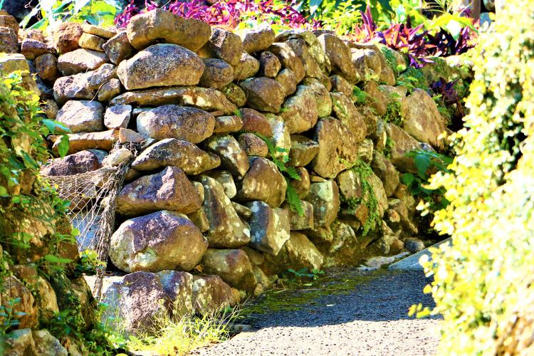 大当集落の石垣