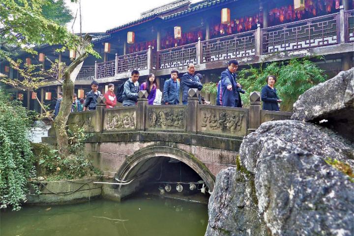成都 武侯祠の太鼓橋