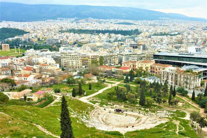 ギリシャ パルテノン神殿からの眺望
