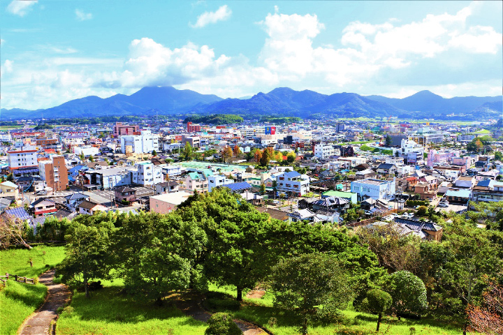 加世田運動公園の展望台からの眺望