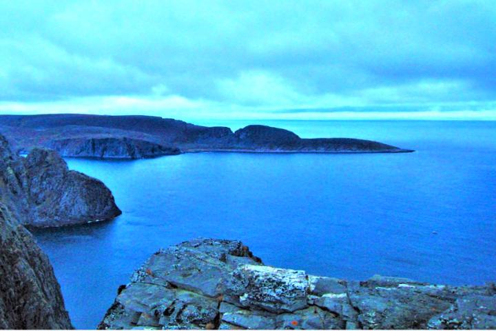ヨーロッパのほぼ最北端にある岬からの眺望