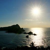 沖秋目島の夕日