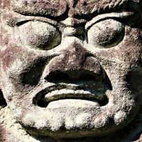 武家屋敷の仁王像