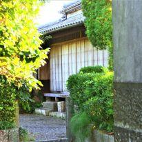 生垣から垣間見える武家屋敷