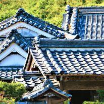 武家屋敷の屋根