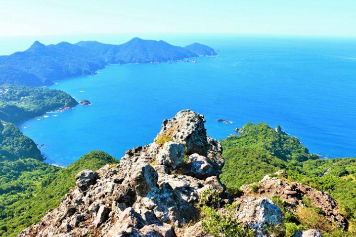 亀ヶ丘からの見えるリアス式海岸
